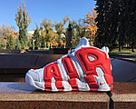 Кроссовки Nike Air More Uptempo (White&Red), фото 2