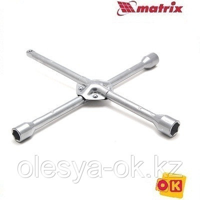 Ключ-крест баллонный, 17 х 19 х 21 мм, под квадрат 1/2, усиленный, толщина 16 мм. MATRIX PROFESSIONAL, фото 2