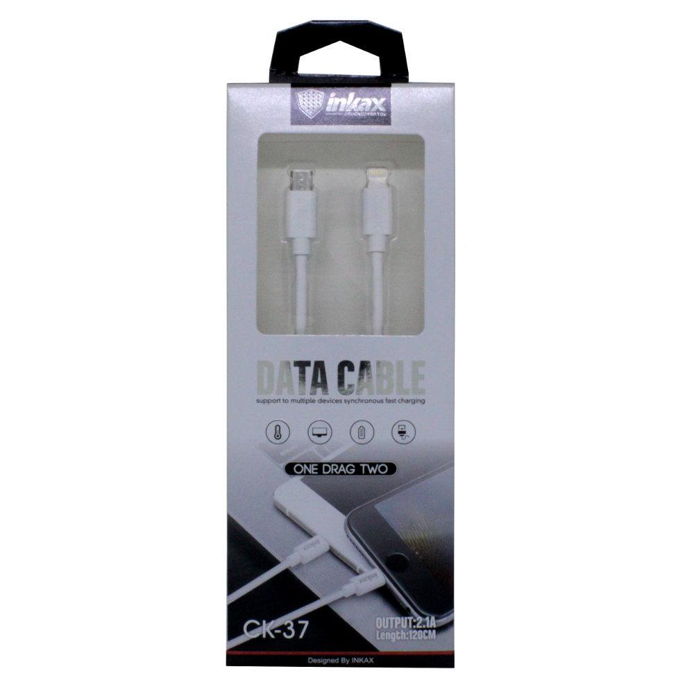 Кабель INKAX CK-37 iPhone USB и Micro USB