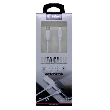 Кабель INKAX CK-37 iPhone USB и Micro USB, фото 2
