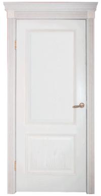 Дверь DL 503 ДГ, цвет Эмаль крем