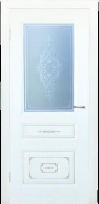 Дверь DL510ДО, цвет Белое дерево золото