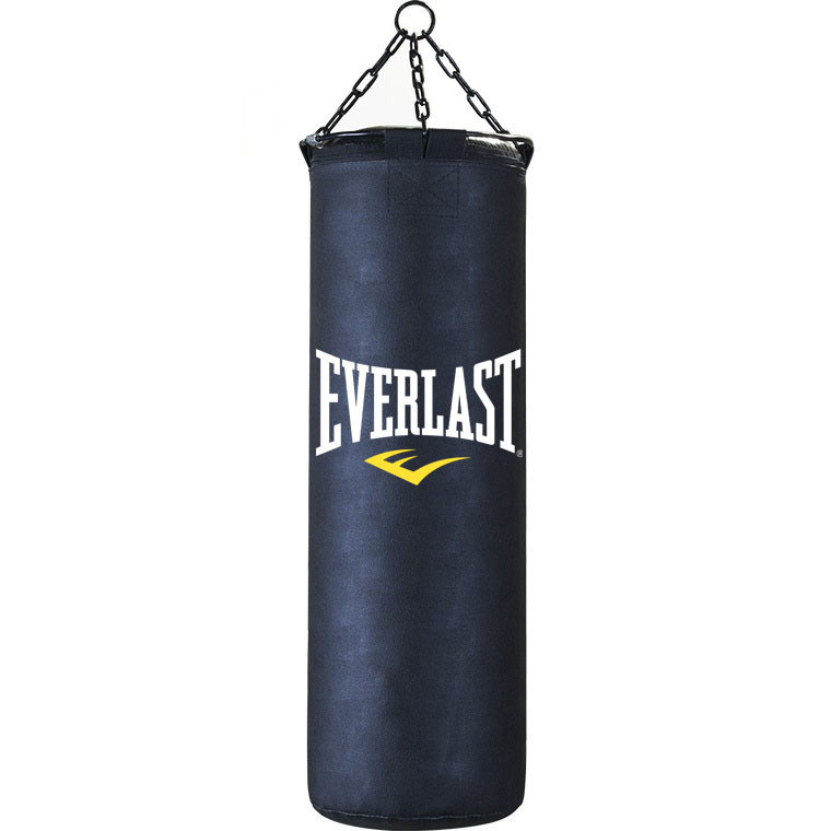 Боксерская груша Everlast кожа 100см черный