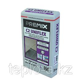 Premix C2 Uniflex Элистифицированный клей керамогранита