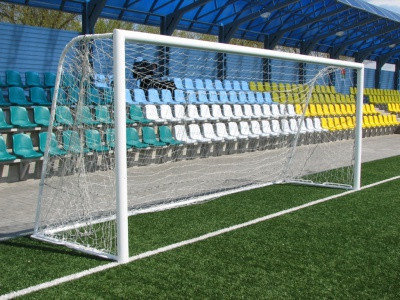 Ворота для футбола стационарные (7,32х2,44 м), фото 2