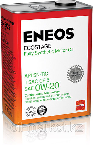Моторное масло ENEOS ECOSTAGE 0w-20 Synthetic (100%) 4 л, фото 2