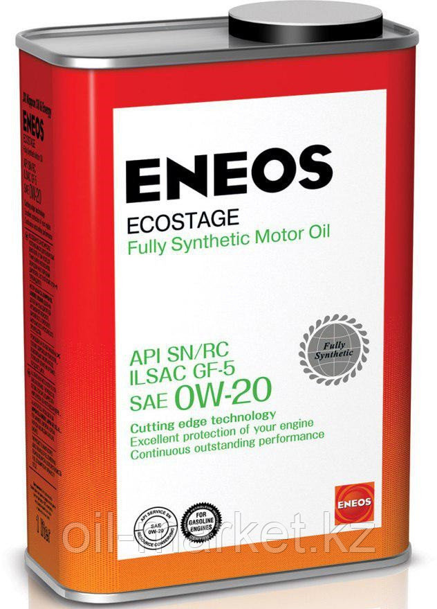 Моторное масло ENEOS ECOSTAGE 0w-20 Synthetic (100%) 0,94 л
