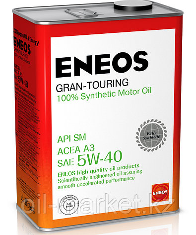 Моторное масло ENEOS GRAN TOURING 5w-40 Synthetic (100%) 4 л, фото 2