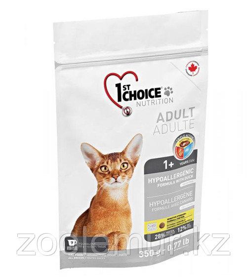 1st Choice гипоаллергенный с уткой и картофелем - для кошек 350 гр.