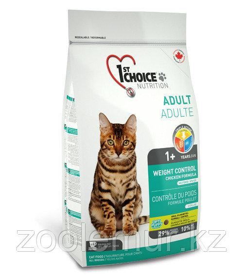 1st Choice «Контроль Веса» с курицей - для кастрированных и стерил. кошек от 1 года 5.44кг