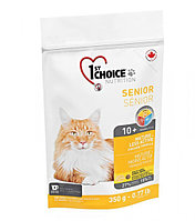 1st Choice Mature or Less Active с курицей - для стареющих и малоактивных кошек от 10 лет и старше 350 гр., фото 1