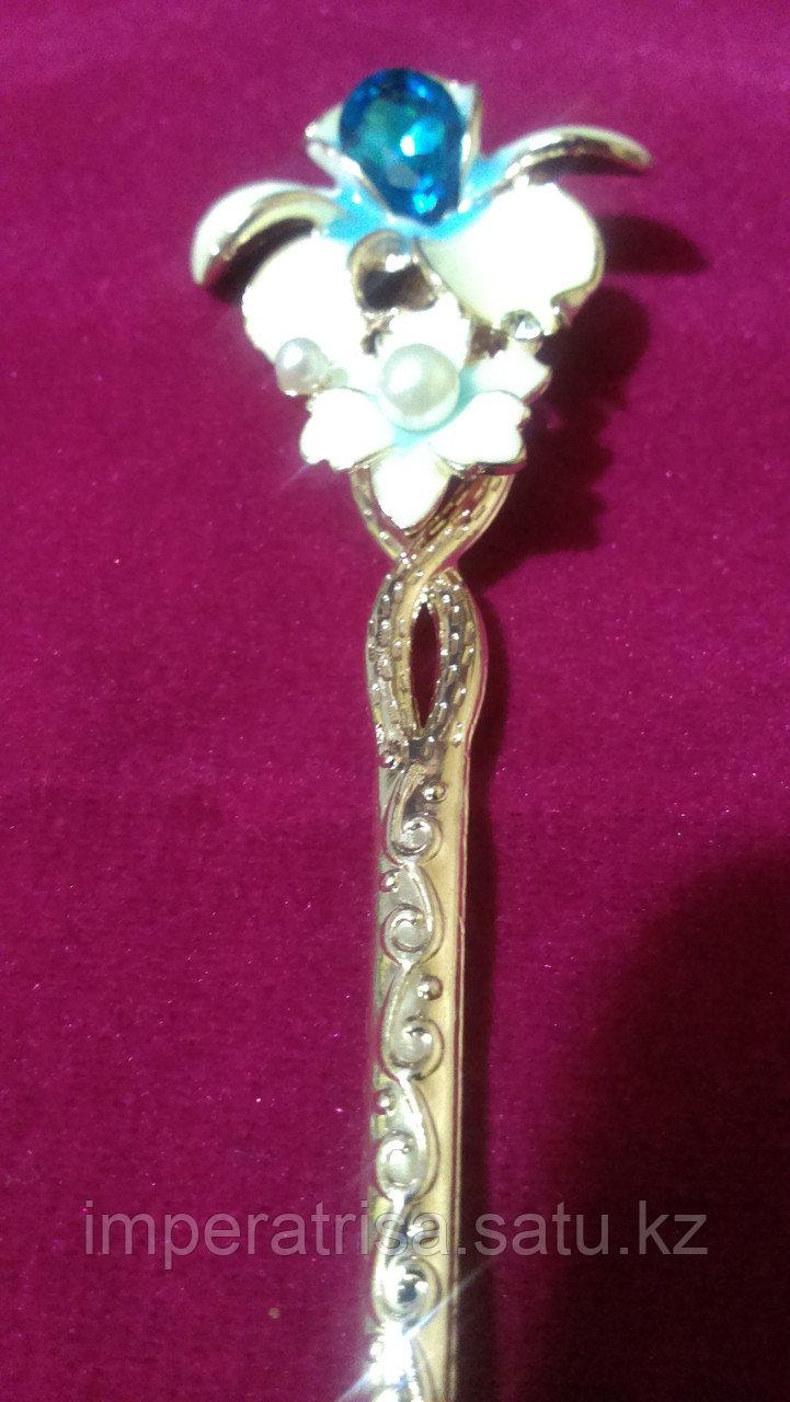 """Японская палочка-шпилька для волос""""Голубая Орхидея"""""""