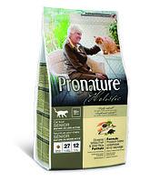 Pronature Holistic Senior сухой корм для пожилых кошек от 10 лет, с океанической белой рыбой и рисом 2.72кг., фото 1