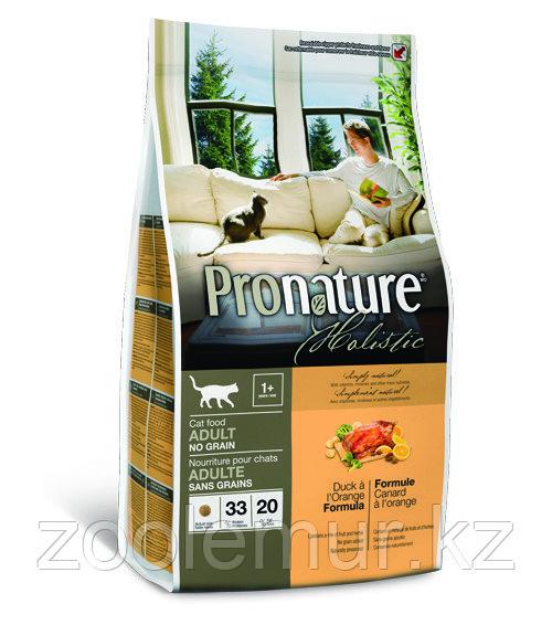Pronature Holistic Adult беззерновой - для кошек, утка с апельсином 2.72 кг.