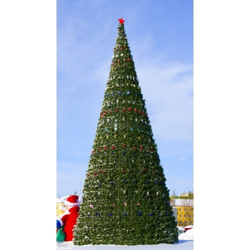 Искусственная каркасная елка Астана, хвоя-пленка 10 м (диаметр 4,4 м)