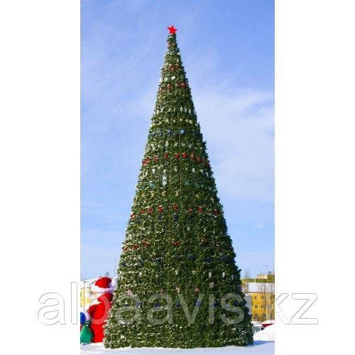 Искусственная каркасная елка Астана, хвоя-пленка 16 м (диаметр 7 м)