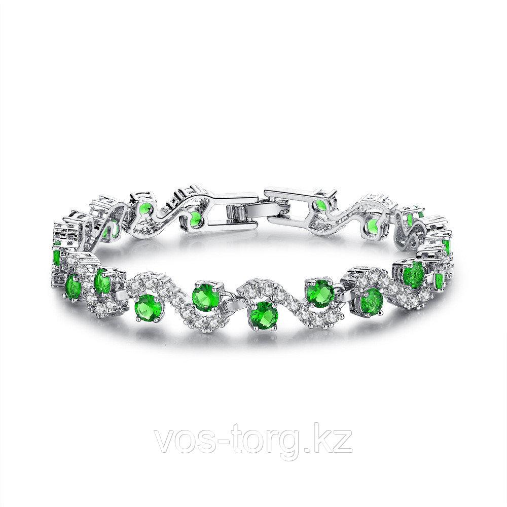 """Браслет с кристаллами """"Alcazar green"""""""