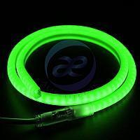 Гибкий Неон LED SMD, форма - D, зелёный, 120 LED/м, бухта 100м
