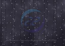 """Гирлянда """"Светодиодный Дождь"""" 2х4м, эффект мерцания, белый провод, 230 В, диоды БЕЛЫЕ, 800 LED"""