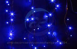 """Гирлянда модульная """"Дюраплей LED"""" 12м 120 LED черный каучук Синий"""