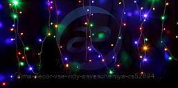 """Гирлянда модульная """"Дюраплей LED"""" 12м 120 LED черный каучук Мульти"""