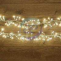 """Гирлянда """"Мишура LED"""" 3 м прозрачный ПВХ, 288 диодов, цвет белый, фото 1"""