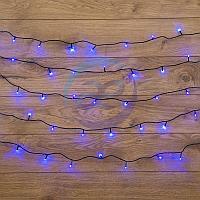 """Гирлянда """"Твинкл Лайт"""" 10 м, темно-зеленый ПВХ, 80 LED, цвет: Синий, фото 1"""