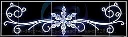 "Фигура световая ""Снежинка с кружевами"" размер 4.2х1.2м NEON-NIGHT"