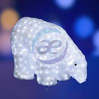 """Акриловая светодиодная фигура """"Белый медведь"""" 40см, 752 светодиода, IP 44, понижающий трансформатор в комплекте, NEON-NIGHT"""