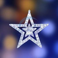 """Акриловая светодиодная фигура """"Звезда"""" 62 см, 62х59х2,5см, 63 светодиода, IP44 понижающий трансформатор в комплекте, NEON-NIGHT"""
