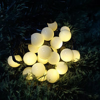 """Светодиодная гирлянда """"Шарики"""" - 5 метров, не моргающий, размер шарика 1,8 см (теплый свет)"""