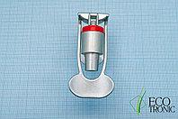 Кран  с внутренней резьбой нажим чашкой, серебро