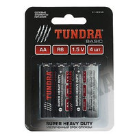 Батарейка солевая TUNDRA Super Heavy Duty, AA, R6, блистер, 4 шт (комплект из 12 шт.)