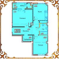Двухкомнатная квартира 58,14 кв.м в жк Оазис