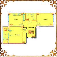 Двухкомнатная квартира 56.21 кв.м в жк Оазис