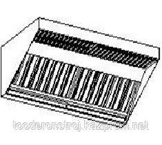 Пристенный приточно-вытяжной зонт МВО-0,5МС-01х1,0 из оцинкованной стали