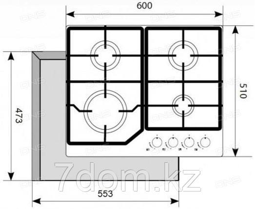 Варочная панель AKPO PGA 604 VGC-T-BL Defendi , фото 2