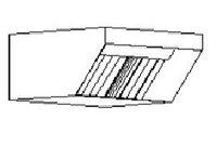 Пристенный вытяжной зонт МВО-0,5МСВ-05х0,5 из оцинкованной стали