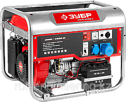 Бензиновый генератор с электростартером, 4500 Вт, ЗУБР
