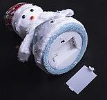 "Игрушка световая ""Праздничный снеговик"" (батарейки не комплекте) 15х20 см, 1 LED RGB, СИНИЙ, фото 3"