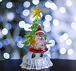 """Игрушка световая """"Дед мороз под елкой"""" (батарейки в комплекте) 1 LED, RGB , фото 2"""