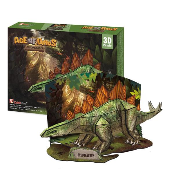 Игрушка Эра Динозавров  Стегозавр - 3D Пазлы (Конструкторы)