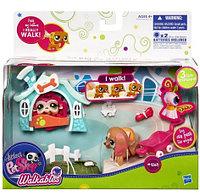 Littlest Pet Shop Walkables, Hasbro Игровой набор с ходячим зверьком Такса