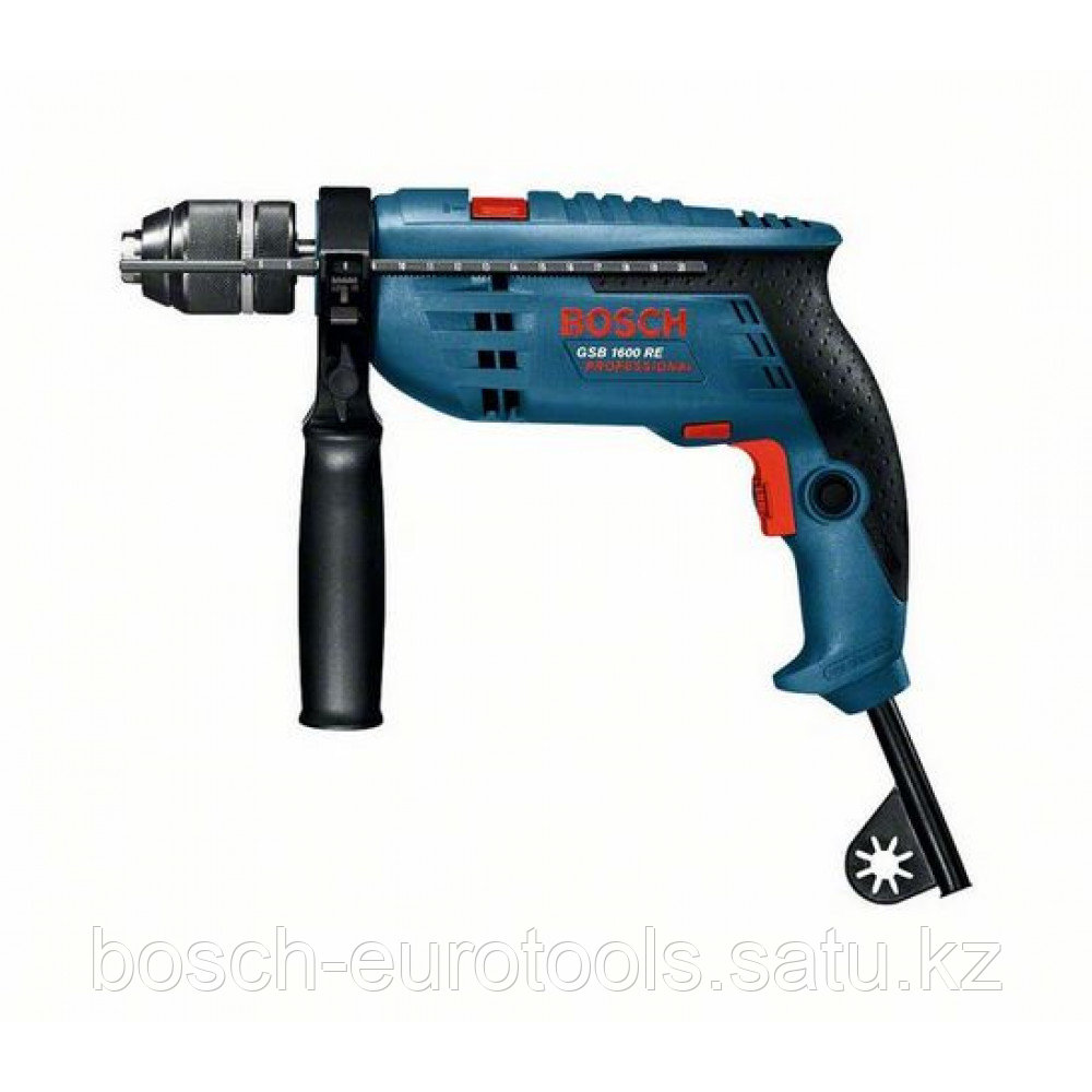 Ударная дрель Bosch GSB 1600 RE Professional (БЗП) в Казахстане