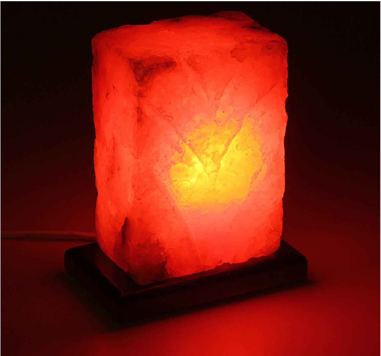 """Светильник соляной """"Рассвет"""" цельный кристалл, 1-2 кг"""