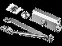 Доводчик дверной STAYER, для дверей массой до 40 кг, цвет серебро