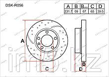 Тормозные диски Skoda Fabia. 6Y 1999-2007 1.9TDi