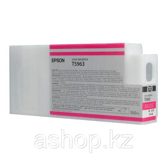 Картридж Epson C13T596300 (№T5963), Объем: 350 мл, Цвет: Пурпурный, Совместимость: Stylus Pro 7700, 7890, 7900