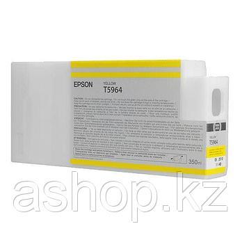 Картридж Epson C13T596400 (№T5964), Объем: 350 мл, Цвет: Жёлтый, Совместимость: Stylus Pro 7700, 7890, 7900, 9