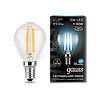 Лампа Gauss LED Filament Globe E14 5W 4100K